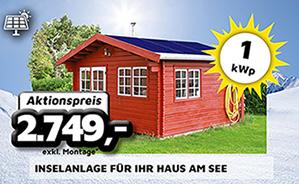 1 kWp Inselanlage für Ihr Haus am See