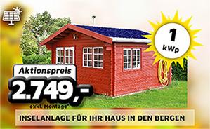 1 kWp Inselanlage für Ihr Haus in den Bergen