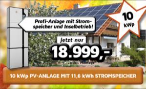 10 kWp Profi-PV-Anlage mit Stromspeicher 11,6 kWh