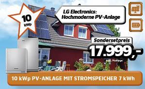 10 kWp PV-Anlage mit Stromspeicher 7 kWh