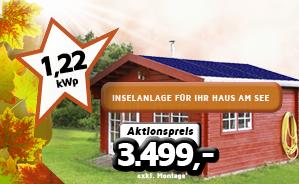 1,22 kWp Inselanlage für Ihr Haus am See