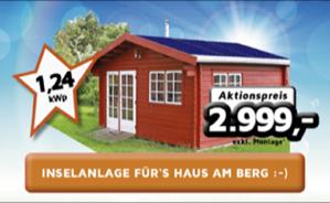 1,24 kWp Inselanlage für's Haus am Berg :-)