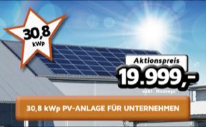 30,8 kWp Photovoltaik-Anlage für Unternehmen oder Landwirtschaft