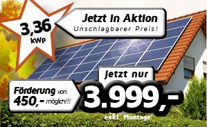 3,36 kWp PV-Einfamilienhaus-Anlage