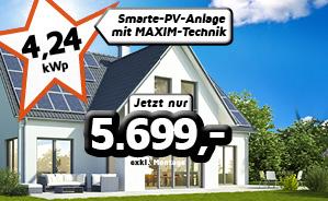 4,24 kWp Einfamilienhaus-Anlage