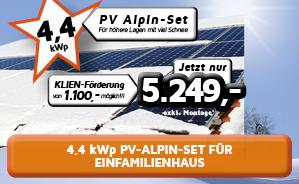 4,4 kWp PV-Alpin-Anlage für Einfamilienhaus