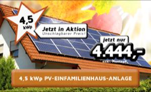 4,5 kWp PV-Einfamilienhaus-Anlage