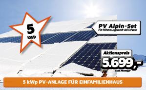 5 kWp PV-Alpin-Anlage für Einfamilienhaus
