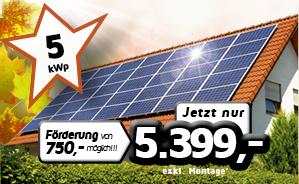 5 kWp PV-Einfamilienhaus-Anlage