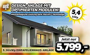 5,12 kWp Einfamilienhaus-Anlage