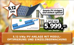 5,12kWp PV-Anlage mit Moduloptimierung und Einzelüberwachung