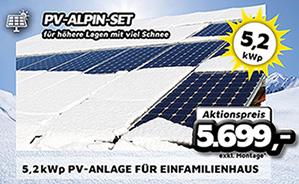 5,2 kWp PV-Alpin-Anlage für Einfamilienhaus