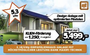 5,28 kWp Einfamilienhaus-Anlage mit höchstmöglicher Leistung dank Maxim-Technik