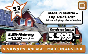 5,3 kWp PV-Anlage Made in Austria