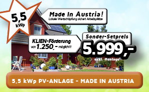 5,5 kWp PV-Anlage  - Made in Austria