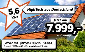 5,6 kWp PV-Anlage - am besten mit Stromspeicher!