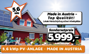 5,6 kWp PV-Anlage Made in Austria