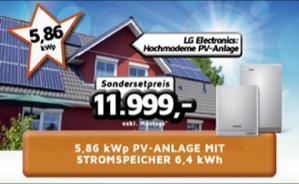 5,86 kWp PV-Anlage mit Stromspeicher 6,4 kWh