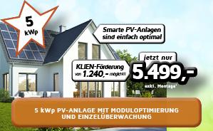 5kWp PV-Anlage mit Moduloptimierung und Einzelüberwachung