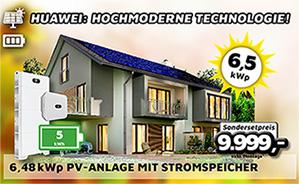 6,48 kWp PV-Anlage mit Stromspeicher 5kWh