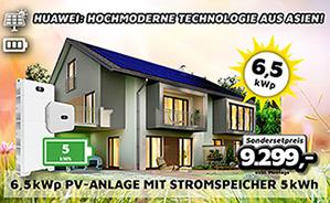 6,5 kWp PV-Anlage mit Stromspeicher 5kWh