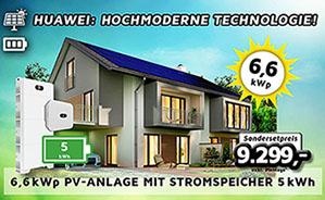 6,6 kWp PV-Anlage mit Stromspeicher 5kWh