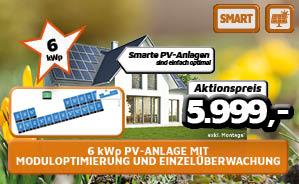 6kWp PV-Anlage mit Moduloptimierung und Einzelüberwachung