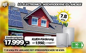 7,8 kWp PV-Anlage mit Stromspeicher 10 kWh