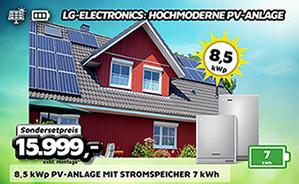 8,5 kWp PV-Anlage mit Stromspeicher 7 kWh