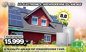8,76 kWp PV-Anlage mit Stromspeicher 7 kWh