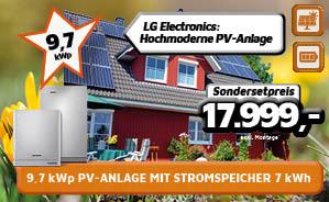 9,7 kWp PV-Anlage mit Stromspeicher 7 kWh