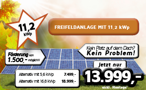 Freifeldanlage mit 11,2 kWp