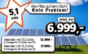 FreifeldAnlage mit 5,1 kWp