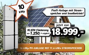 Profi-PV-Anlage mit Stromspeicher und Inselbetrieb