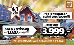 PV-Einfamilienhaus-Anlage mit 4,08 kWp