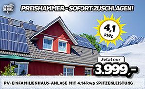 PV-Einfamilienhaus-Anlage mit 4,14 kWp