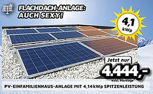 PV-Einfamilienhaus-Anlage mit 4,14 kWp Spitzenleistung