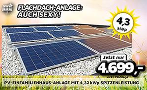 PV-Einfamilienhaus-Anlage mit 4,32 kWp Spitzenleistung