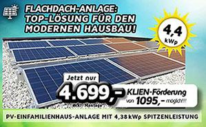 PV-Einfamilienhaus-Anlage mit 4,38 kWp Spitzenleistung