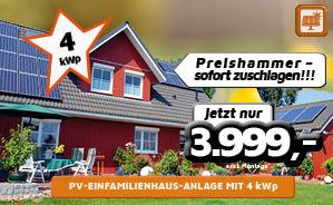 PV-Einfamilienhaus-Anlage mit 4kWp