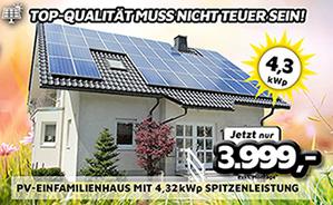 PV-Einfamilienhaus mit 4,32 kWp Spitzenleistung
