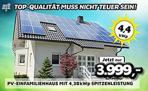 PV-Einfamilienhaus mit 4,38 kWp Spitzenleistung