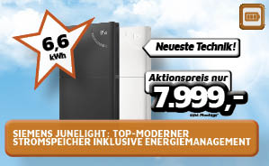Siemens Junelight: Top-moderner Stromspeicher inkl. Energiemanagement