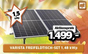Varista Freifeldtisch-Set 1,48 kWp
