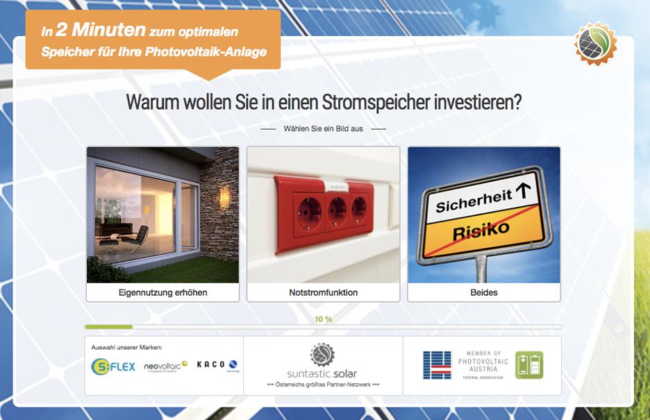 Photovoltaik Speicher Anfrage