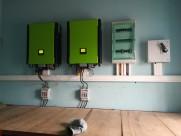 Photovoltaik-Anlage 2 x 30 kWp Hybridanlage mit jeweils 96 kWh Batteriespeicher in Afrika