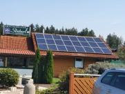 Photovoltaik-Anlage Imbissstand